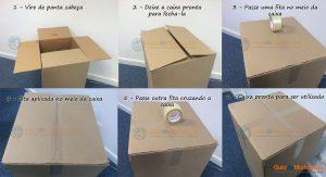montar caixas de papelao