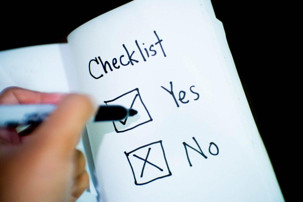 Checklist da mudança empresarial